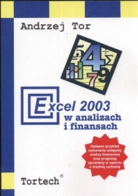 Execel 2003 w analizach i finansach - okładka książki