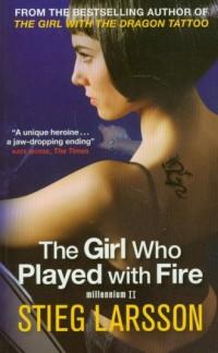 The Girl Who Played with Fire - okładka książki