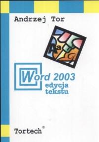 Word 2003. Edycja tekstu - okładka książki