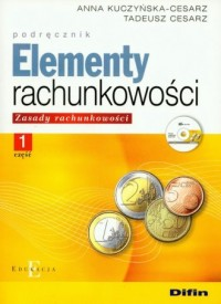 Elementy rachunkowości cz. 1. Zasady rachunkowości. Podręcznik (+ CD) - okładka książki