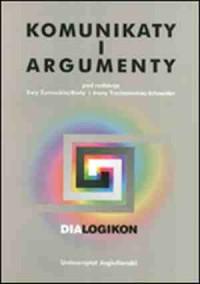 Komunikaty i argumenty. Dialogikon, vol. 11 - okładka książki