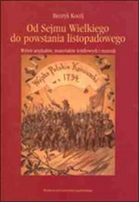 Od Sejmu Wielkiego do powstania - okładka książki