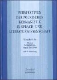 Perspektiven der polnischen Germanistik in Sprach-und Literaturwissenschaft - okładka książki