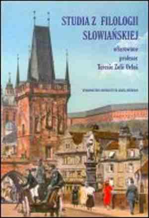 Studia z filologii słowiańskiej - okładka książki