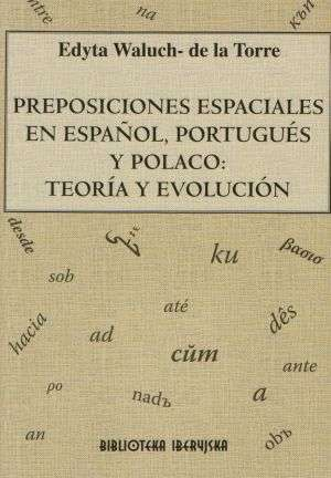 Preposiciones espaciales en esnanol, - okładka książki