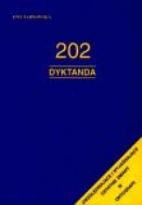 202 dyktanda - okładka książki