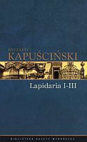 Lapidaria cz. 1-3. Tom 6 - okładka książki
