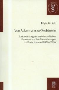 Von Ackermann zu Okobauerin - okładka książki