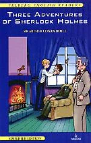 Three Adventures of Sherlock Holmes - okładka książki