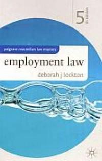 Employment Law, 5th Edition - okładka książki