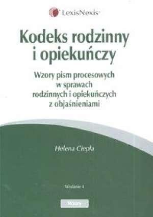 Kodeks rodzinny i opiekuńczy - okładka książki