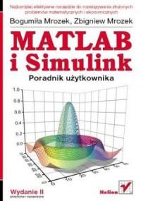 MATLAB i Simulink. Poradnik użytkownika - okładka książki