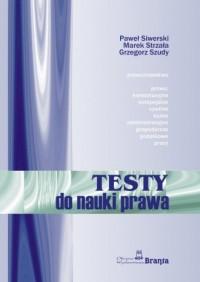 Testy do nauki prawa - okładka książki