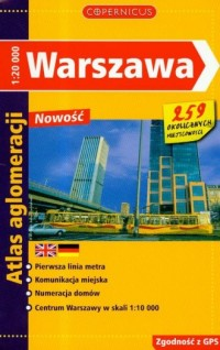 Warszawa. Atlas aglomeracji - Wydawnictwo - okładka książki