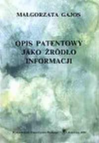 Opis patentowy jako źródło informacji - okładka książki