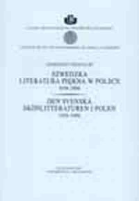 Szwedzka literatura piękna w Polsce - okładka książki