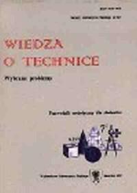 Wiedza o technice. Przewodnik metodyczny dla studentów - okładka książki