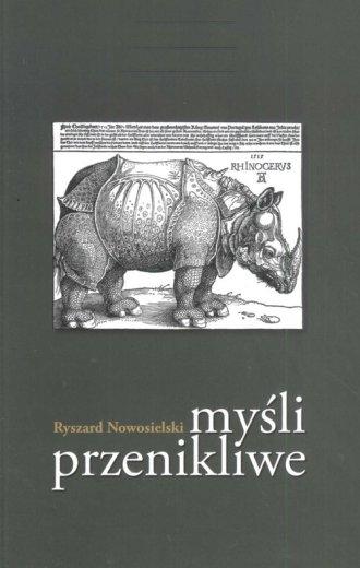 Myśli przenikliwe - okładka książki