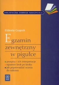Egzamin zewnętrzny w pigułce - okładka książki