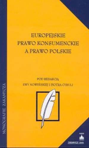 Europejskie prawo konsumenckie - okładka książki