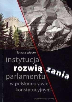 Instytucja rozwiązania parlamentu - okładka książki