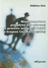 Międzynarodowe przepływy siły roboczej w procesie integracji Polski z krajami Unii Europejskiej - okładka książki