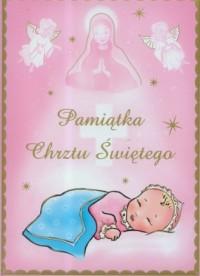Pamiątka chrztu świętego (różowa) - okładka książki