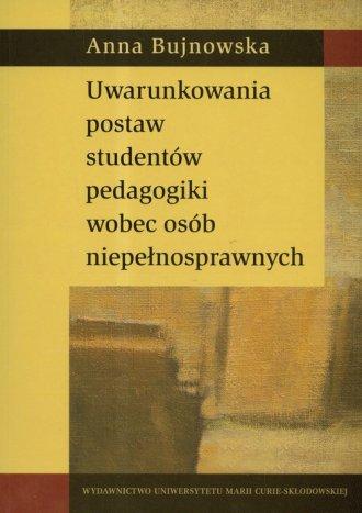 Uwarunkowania postaw studentów - okładka książki