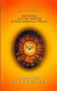 Encyklika dominum et vivificantem. - okładka książki