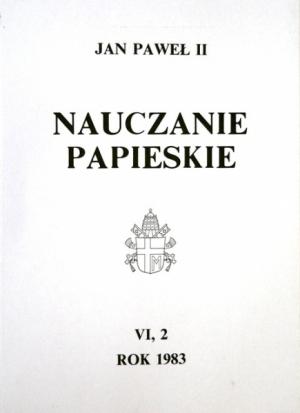 Nauczanie papieskie 1983. Tom VI/2 - okładka książki