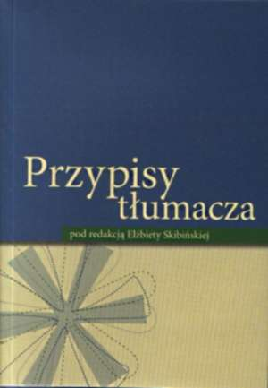Przypisy tłumacza - okładka książki