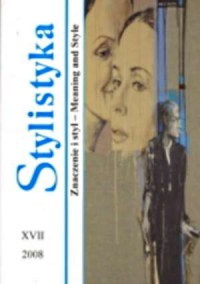 Stylistyka XVII. Znaczenie i styl / Meaning and Style - okładka książki