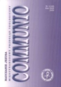 Communio nr 1(165)/2009. Nauczanie Jezusa - okładka książki