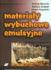 Materiały wybuchowe emulsyjne - okładka książki