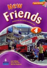 New Friends 4. Klasa 4-6. Szkoła podstawowa. Podręcznik (+ CD) - okładka podręcznika