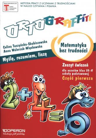 Ortograffiti. Matematyka bez trudności. - okładka podręcznika