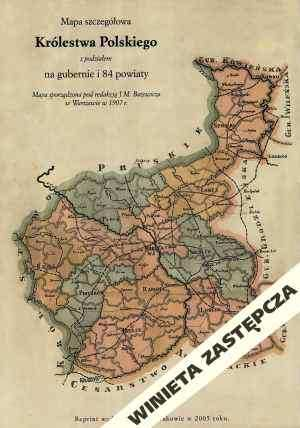 Gubernia Radomska - mapa szczegółowa - zdjęcie reprintu, mapy