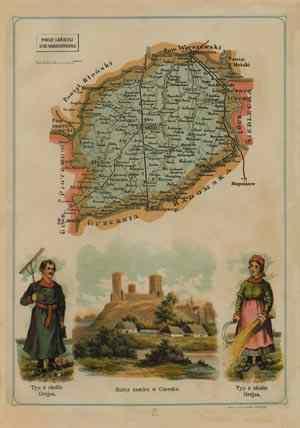 Powiat Grójecki - mapa szczegółowa - zdjęcie reprintu, mapy