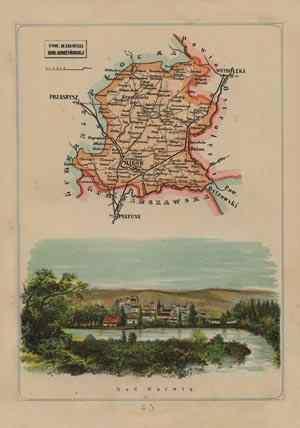 Powiat Makowski - mapa szczegółowa - zdjęcie reprintu, mapy