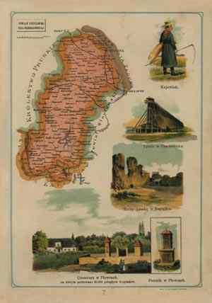 Powiat Nieszawski - mapa szczegółowa - zdjęcie reprintu, mapy