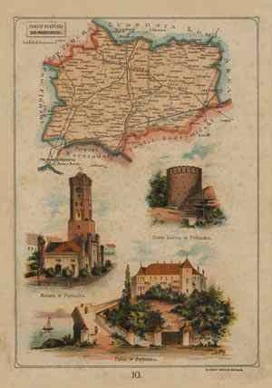 Powiat Pułtuski - mapa szczegółowa - zdjęcie reprintu, mapy