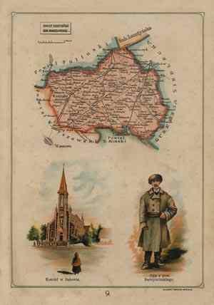 Powiat Radzymiński - mapa szczegółowa - zdjęcie reprintu, mapy