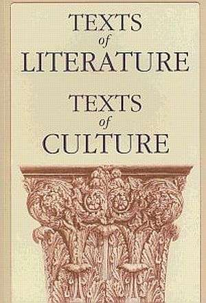 Texts of Literature. Texts of Culture - okładka książki