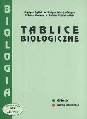 podr�cznik -  Tablice biologiczne - Krystyna Grykiel