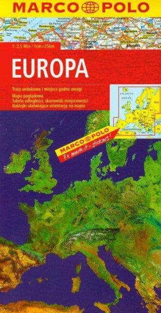 Europa Mapa Samochodowa 1 2 500 000 Marco Polo Ksiegarnia