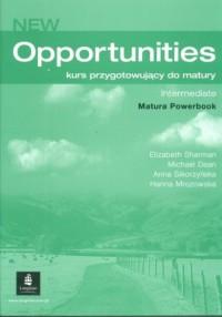 New Opportunities. Intermediate. Język angielski. Kurs przygotowujący do matury. Matura Powerbook - okładka podręcznika