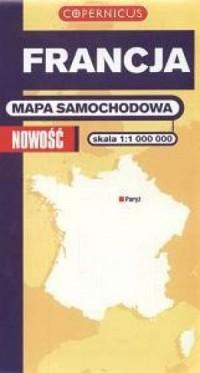 Francja (mapa samochodowa - skala 1:1 000 000) - okładka książki
