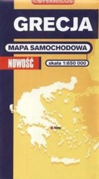 Grecja (mapa samochodowa w skali 1:650 000) - okładka książki