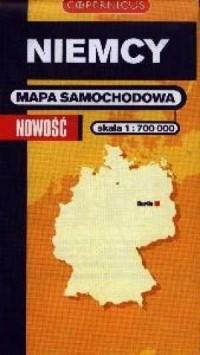 Niemcy (mapa samochodowa skala 1:700 000) - okładka książki