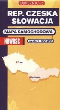 Republika Czeska. Słowacja. Mapa samochodowa (skala 1:500 000) - okładka książki